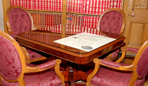 The Constitution Table in the Speaker's office