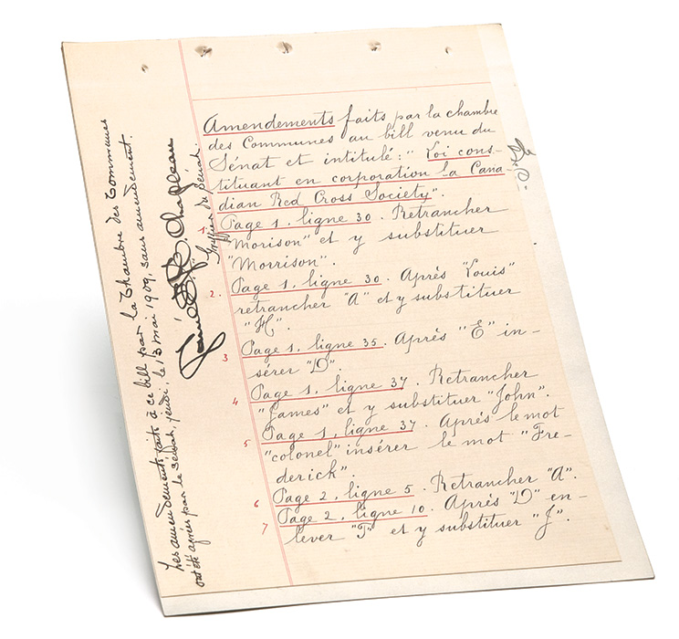 Loi constituant en corporation la Canadian Red Cross Society, 1909