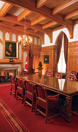 The Salon de la Francophonie in the Centre Block of Canada's Parliament Buildings