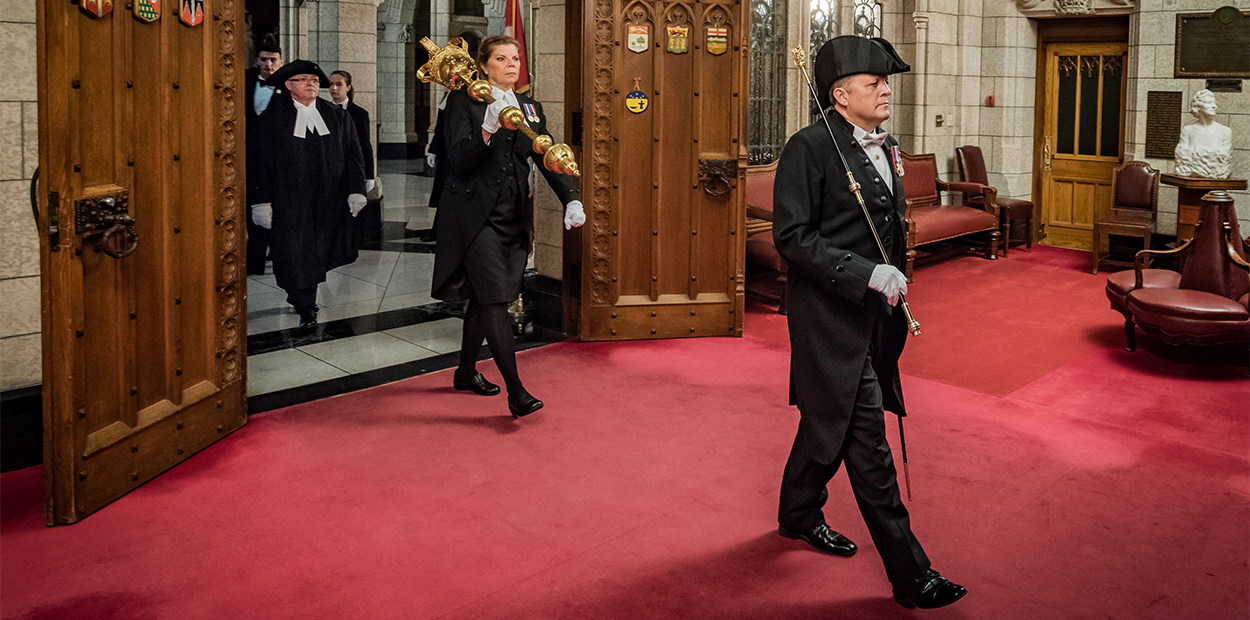 Photo of the Usher of the Black Rod in the Speaker's Parade