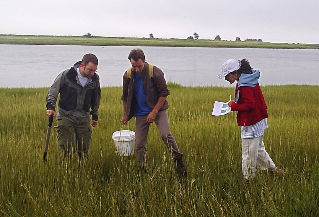 Senator Galvez collects samples as part of her research at Lake St-Augustin, near Quebec City.