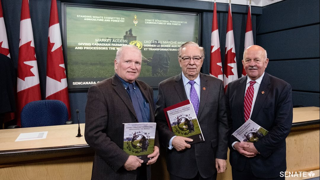 The report, <em>Market Access: Giving Canadian Farmers and Processors the World,</em> outlines ways to ensure Canadian products get to shelves around the world.
