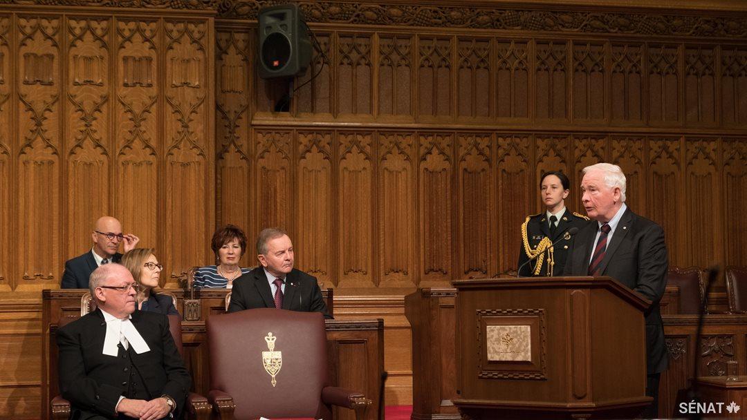 Le Gouverneur général David Johnston parle d'inclusion, de diversité et de changement.