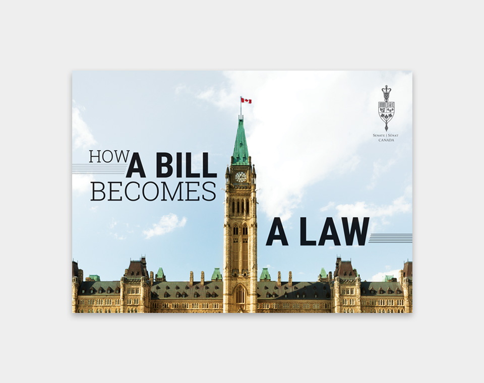 How a Bill Becomes a Law brochure cover