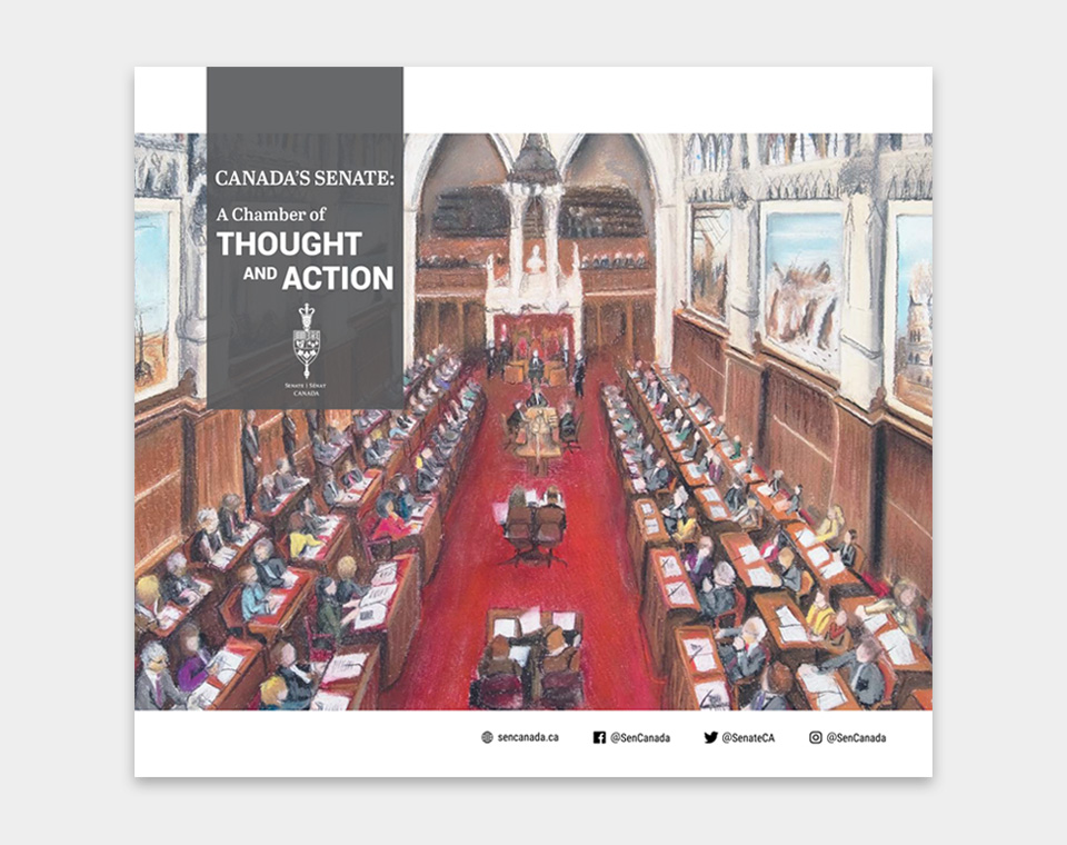 Canada's Senate: A Chamber of Thought and Action brochure cover