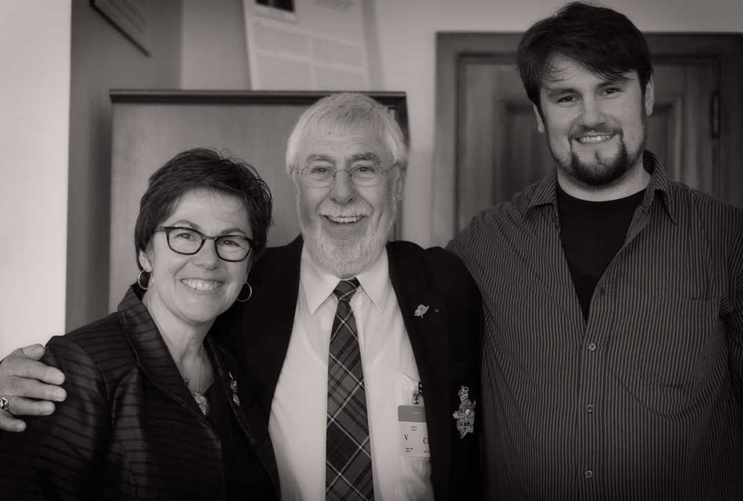 Senator Pate celebrates joining the Red Chamber with her father, Peter, and son, Michael.