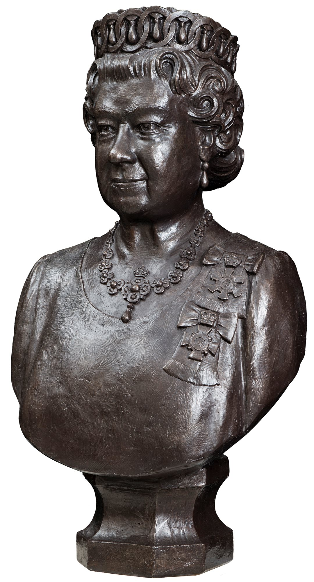 Dominion Sculptor Phil White crafted this bust of Queen Elizabeth II in 2012, the Queen's Diamond Jubilee year.