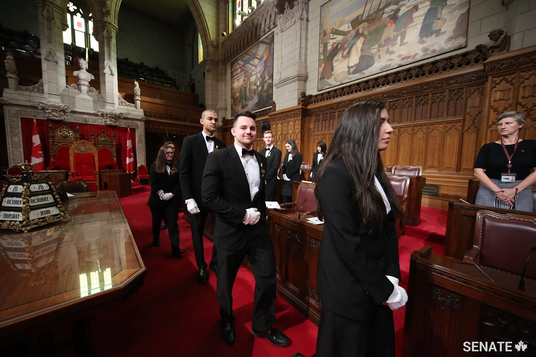 With an exciting year ahead of work in the Senate Chamber, in Senate committees and at other special events and ceremonies in Parliament, the Senate pages have an incredible experience in store for them.