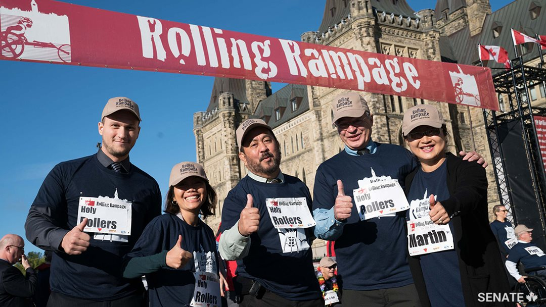 Rolling Rampage on Parliament Hill, October 2017.