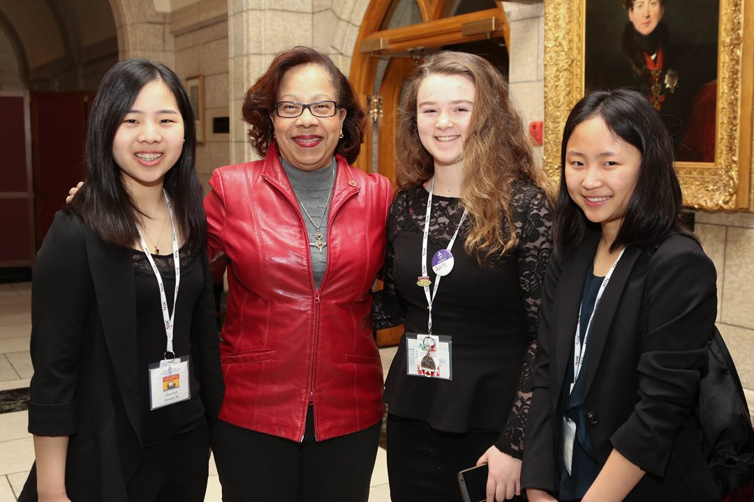 """Involved, engaged and proactive - Canada's youth stands as the best investment in the future of this country,"" says Senator Marie-Françoise Mégie."