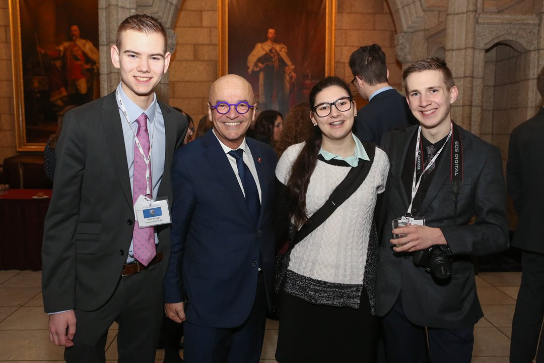 """It's a real privilege to meet them,"" says Senator René Cormier. ""The curiosity and appetite for learning about public affairs shown by these young leaders was a real source of inspiration and shows great promise for the future of democracy in this country."""