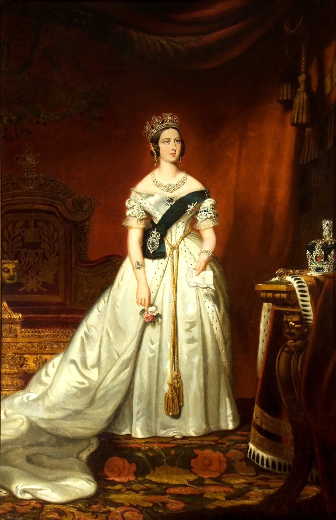 The royal portrait of Victoria that hangs in the Senate foyer was painted in 1842, the fifth year of her reign, and captures the optimistic, energetic young queen during the days when bold new ideas about social and government reform reinvigorated the British Empire.