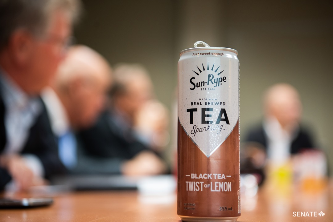 "At the SunRype plant in Kelowna, BC, senators learn that sometimes it takes some creativity to offer fruit-flavoured products that are not too high in sugar. In fact, 100% fruit juice contains more sugar than artificially sweetened beverages, but also more nutrients and vitamins. Products labelled ""high in sugar"" could indeed hurt businesses like SunRype."
