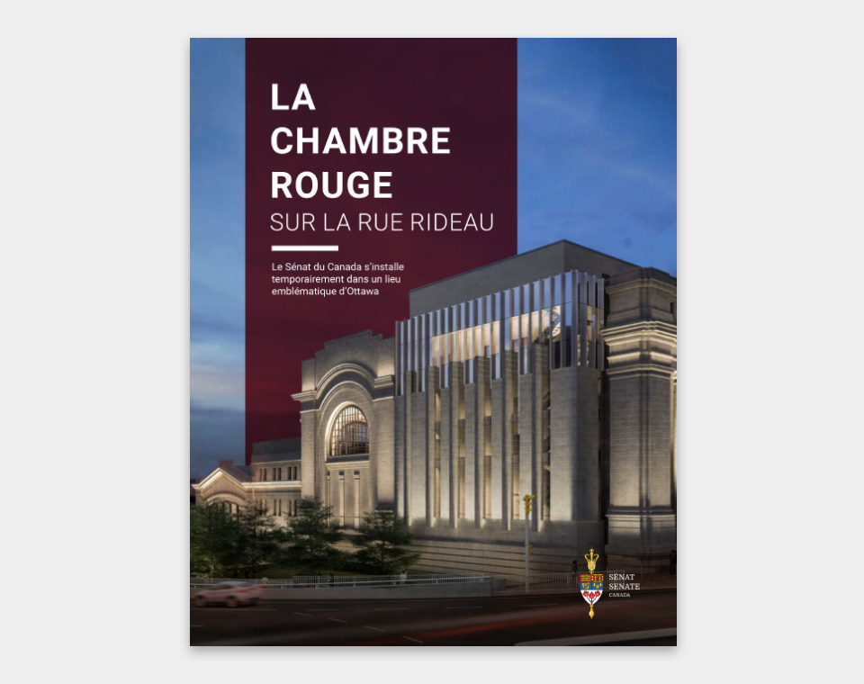 Photo de la couverture de la brochure de la chambre rouge
