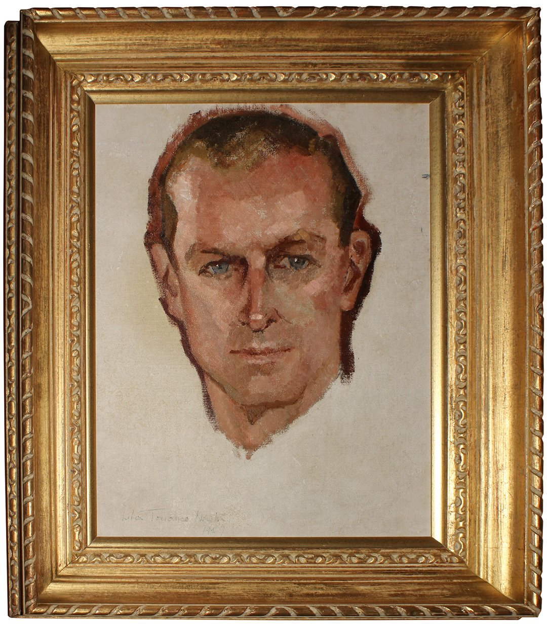 Lilias Torrance Newton's small portrait of Prince Philip hangs in the Reading Room in the Senate of Canada Building. (Image courtesy of the National Capital Commission)
