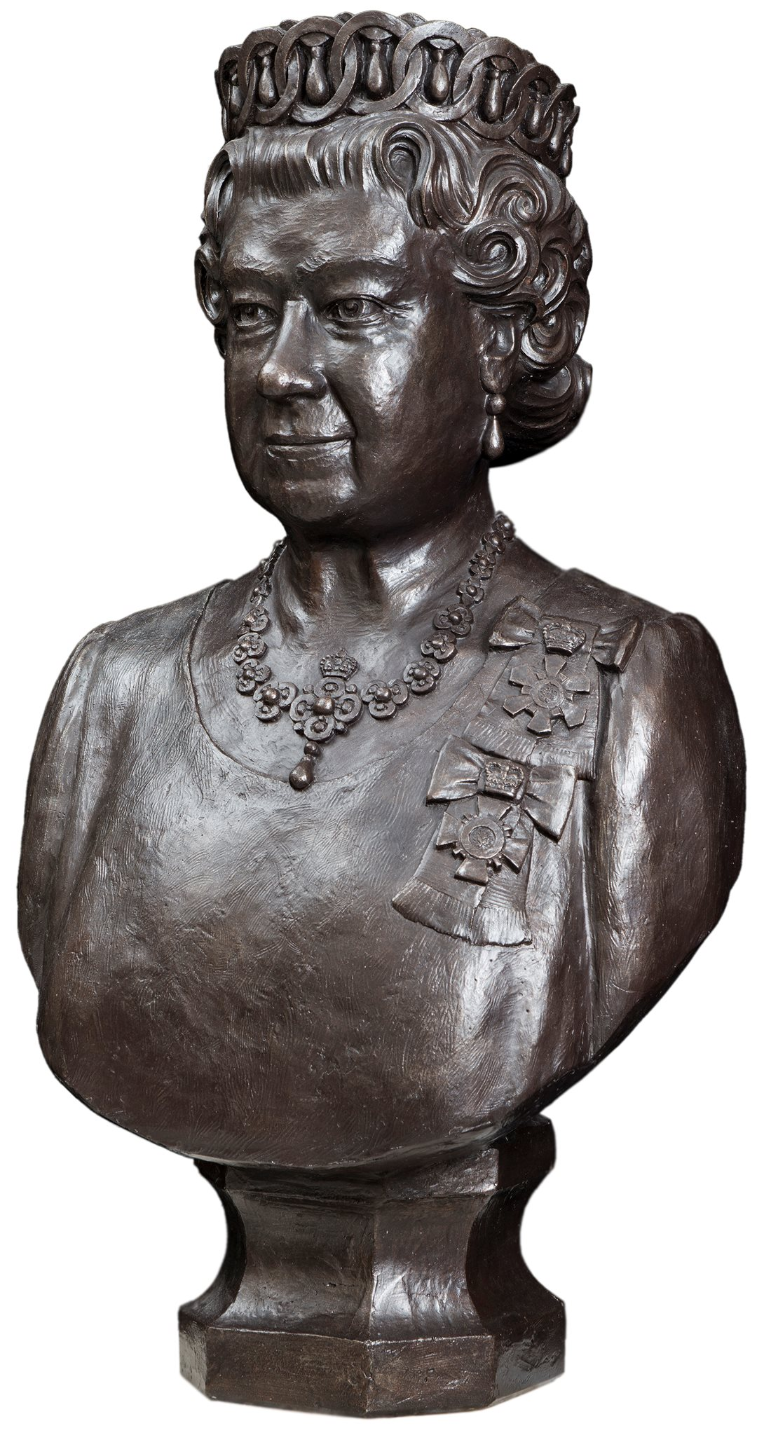 This bronze portrait bust of Queen Elizabeth II was created by Dominion Sculptor Phil White for the Queen's Diamond Jubilee in 2012 and will soon move to the Senate of Canada Building.