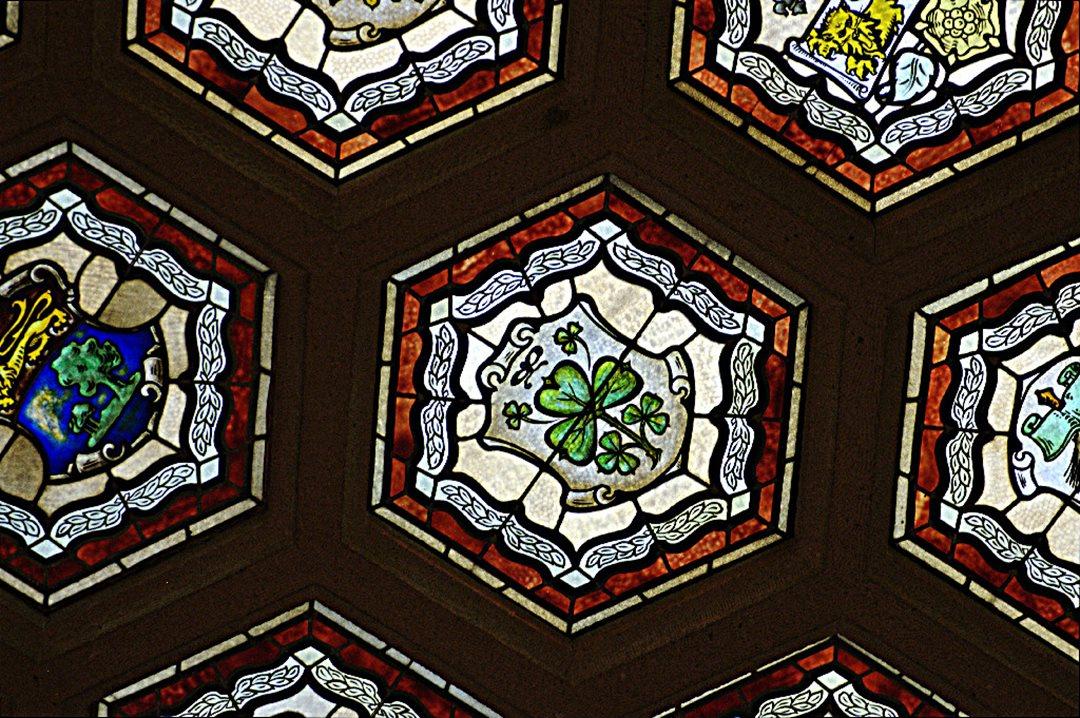 Senate Foyer Ceiling : How ireland is represented in the senate